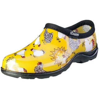 Sloggers 5116CDY06 Women's Chicken Print Daffodil Yellow Waterproof Shoe (5 options available)