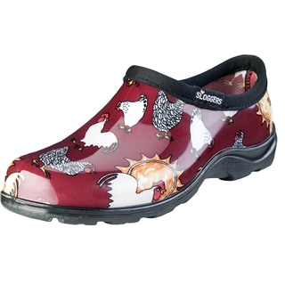 Sloggers 5116CBR06 Women's Chicken Print Barn Red Waterproof Shoe