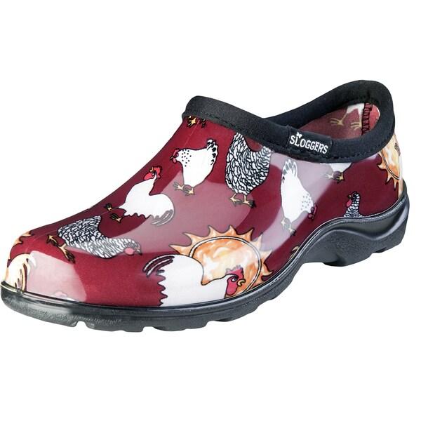 Sloggers 5116CBR06 Women's Chicken Print Barn Red Waterproof Shoe