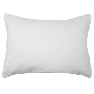 Quilted Cotton Zipper Closure Pillow Protector (Single or Set of 2)