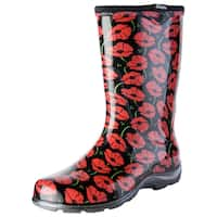 Sloggers 5016POR06 Red Poppie Garden Boot