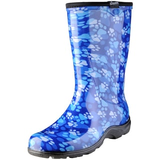 Sloggers 5014QB06 Blue Pawprint Garden Boot