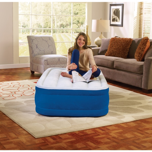 Simmons BeautyRest Plushaire 15 inch Twin-size Express Air Mattress. Opens flyout.