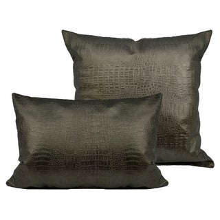 Sherry Kline Gator Faux Leather Combo Pillows (Set of 2)