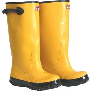 "Boss Gloves 2KP448107 Mens 17"" Tall Yellow Rubber Boots"