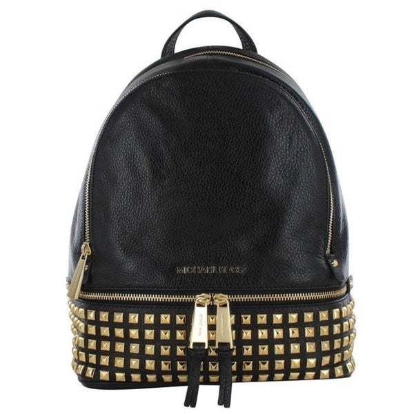 4716adedb780 Shop Michael Kors Rhea Black Studded Backpack - Free Shipping Today ...