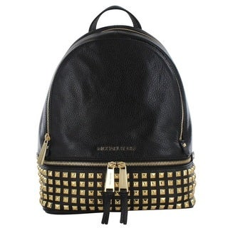 Michael Kors Rhea Black Studded Backpack