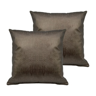 Sherry Kline Gator Faux Leather 20-inch Decorative Throw Pillow (Set of 2)