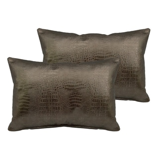Sherry Kline Gator Faux Leather Boudoir Pillow (Set of 2)
