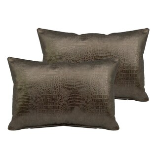 Sherry Kline Gator Faux Leather Boudoir Pillow (Set of 2) (5 options available)