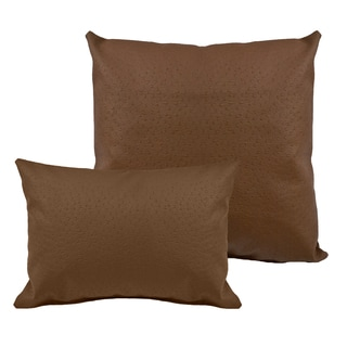 Sherry Kline Orich Faux Leather Combo Pillows (Set of 2)