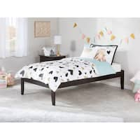 Concord Espresso Wood/Rubberwood Twin Open-foot Bed
