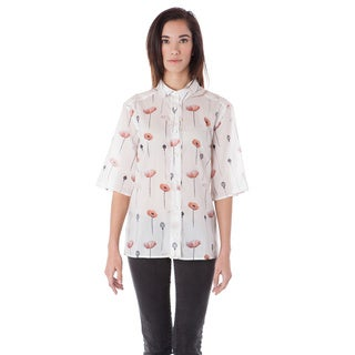 A to Z Women's Printed Button Multicolor Down Lightweight Shirt