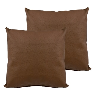 Sherry Kline Orich Faux Leather 20-inch Decorative Throw Pillow (Set of 2)