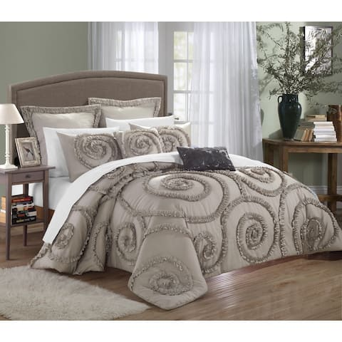 Gracewood Hollow Apostolides Bed-In-A-Bag Taupe Comforter 7-piece Set