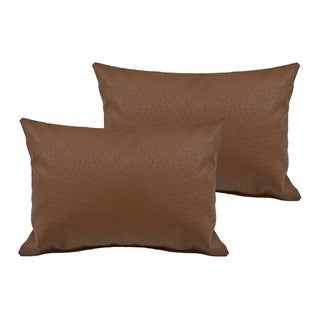 Sherry Kline Orich Faux Leather Boudoir Pillow (Set of 2)