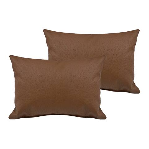 Sherry Kline Orich Faux Leather Boudoir Pillow (Set of 2)