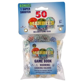 Imperial Toy 08565 Marbles In A Bag Assorted Colors 50-count