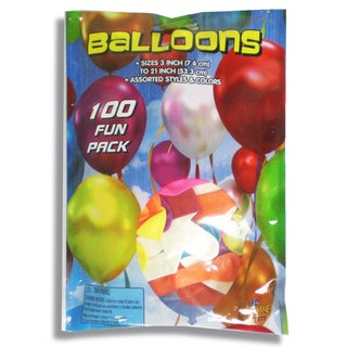 Imperial Toy 21107 Fun Pack Balloons Assorted Colors 100-count