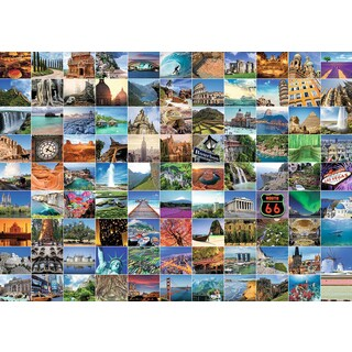 Ravensburger 19371 1000 Piece 99 Beautiful Places On Earth Puzzle