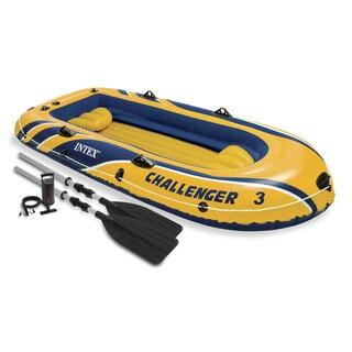 """Intex 68370EP 116"""" L X 54"""" W X 17"""" H Challenger Lake Boat Set"""