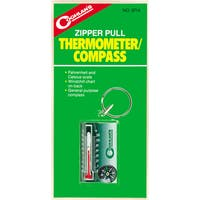 Coghlans 9714 Zipper Pull Thermometer & Compass