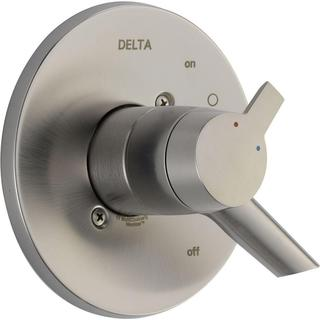 Delta Compel Monitor 17 Series 1-Handle Volume and Temperature Control Valve Trim Kit in Stainless (Valve Not Included)