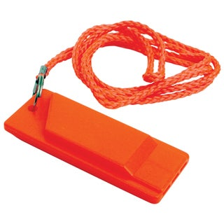 "Attwood 11829-6 1-7/64"" X 2-51/64"" X 5/16"" Orange Flat Safety Whistle"
