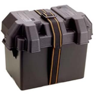 "Attwood 9065-1 14"" X 9-5/8"" X 10-5/8"" Black Standard Battery Box"