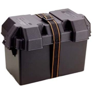 """Attwood 9067-1 16-7/8"""" X 9-5/8"""" X 10-7/8"""" Black Power Guard 27 Battery Box"""
