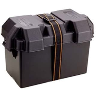 "Attwood 9067-1 16-7/8"" X 9-5/8"" X 10-7/8"" Black Power Guard 27 Battery Box"