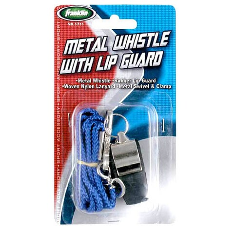 Franklin 1711 Metal Whistle With Rubber Tip & Lanyard Assorted Colors