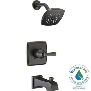 Delta Ashlyn 1-Handle Pressure Balance Tub and Shower Faucet Trim Kit in Venetian Bronze (Valve Not