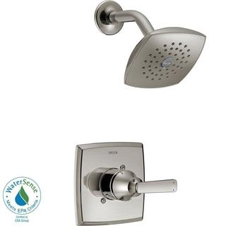 Delta Ashlyn 1-Handle Pressure Balance Shower Faucet Trim Kit in Stainless (Valve Not Included) T142