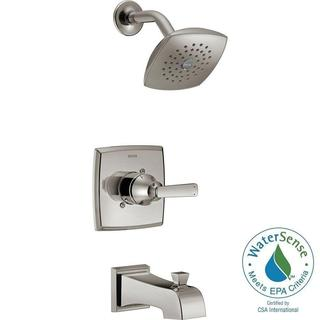Delta Ashlyn 1-Handle Pressure Balance Tub and Shower Faucet Trim Kit in Stainless (Valve Not Included) T14464-SS