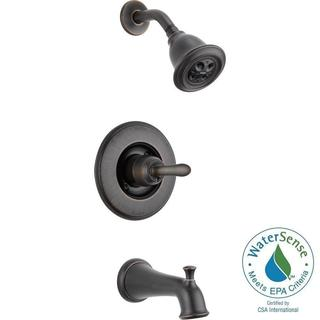 Delta Linden 1-Handle 1-Spray Tub and Shower Faucet Trim Kit in Venetian Bronze Featuring H2Okinetic