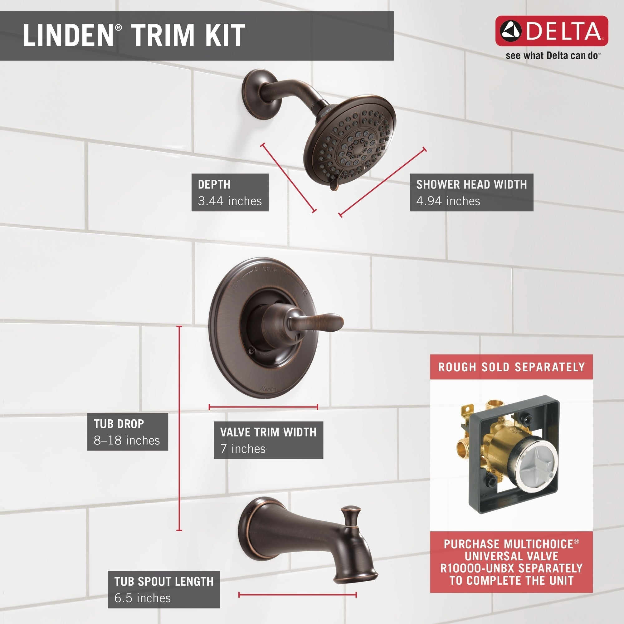 Delta Faucet Linden 14 Series Single Function Tub And Shower