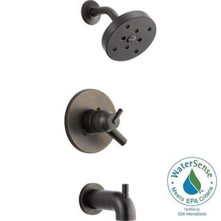 Delta Trinsic 1-Handle H2Okinetic Tub and Shower Faucet Trim Kit in Venetian Bronze (Valve Not Included) T17459-RB