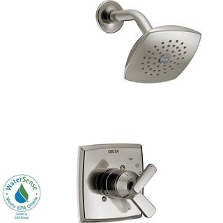 Delta Ashlyn 1-Handle Pressure Balance Shower Faucet Trim Kit in Stainless (Valve Not Included) T172