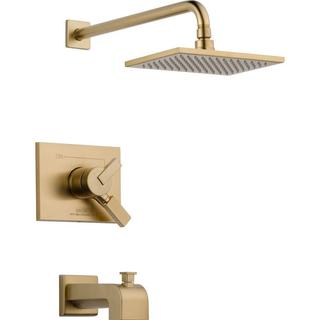Delta Vero 1-Handle Tub and Shower Faucet Trim Kit in Champagne Bronze (Valve Not Included) T17453-C