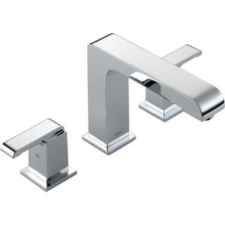 Delta Arzo 2-Handle Deck-Mount Roman Tub Faucet Trim Kit Only in Chrome (Valve Not Included) T2786