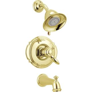 Delta Victorian 1-Handle Tub and Shower Trim Kit in Polished Brass (Valve Not Included) T17455-PB
