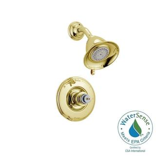 Delta Victorian 1-Handle 3-Spray Shower Faucet Trim Kit in Polished Brass (Valve and Handles Not Included) T14255-PBLHP