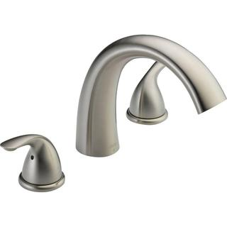 Delta Classic 2-Handle Ledge-Mount Roman Tub Faucet Trim Kit Only in Stainless (Valve Not Included) T2705-SS