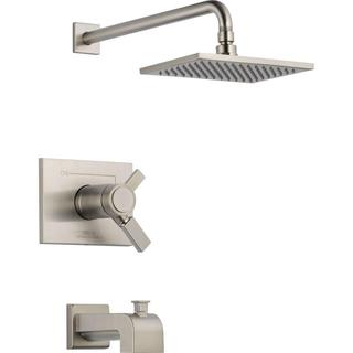 Delta Vero TempAssure 17T Series 1-Handle Tub and Shower Faucet Trim Kit Only in Stainless (Valve No