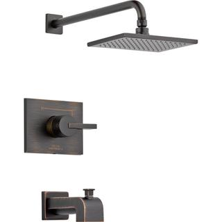 Delta Vero 1-Handle Tub and Shower Faucet Trim Kit Only in Venetian Bronze (Valve Not Included) T14453-RB