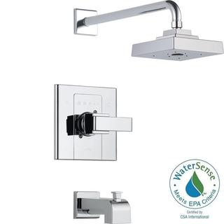Delta Arzo 1-Handle Tub and Shower Faucet Trim Kit Only in Chrome (Valve Not Included) T14486