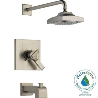 Delta Arzo 1-Handle H2Okinetic Tub and Shower Faucet Trim Kit in Stainless (Valve Not Included) T17486-SS
