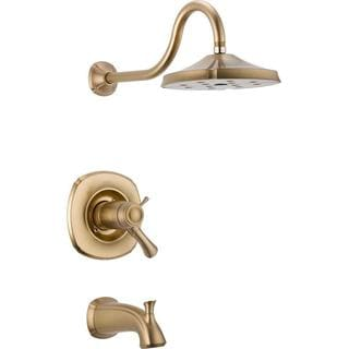 Delta Addison TempAssure 17T Series 1-Handle Tub and Shower Faucet Trim Kit Only in Champagne Bronze (Valve Not Included)