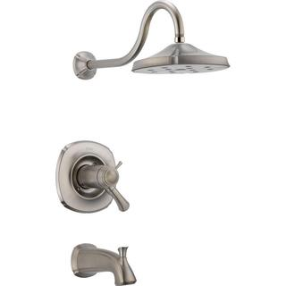 Delta Addison TempAssure 17T Series 1-Handle Tub and Shower Faucet Trim Kit Only in Stainless (Valve Not Included) T17T492-SS